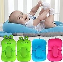Almohada para bañera de bebé, plegable, antideslizante, diseño de rana, cojín de aire flotante, almohadilla para bañera de bebé, cojín de baño suave ...