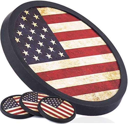American Drink Silicone Coasters