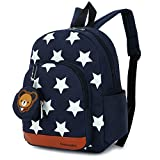 DafenQ Kids Backpack - Cute Bear Toddler Schoolbag Baby Lunch Boxes Carry Bag or Preschool Kindergarten Book Bags (Navy Blue)