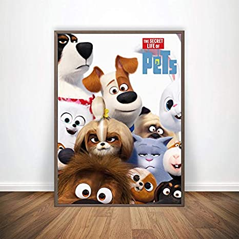 Movie Poster Home Decor The Secret Life Of Pets 2 Wall Art Print 2019