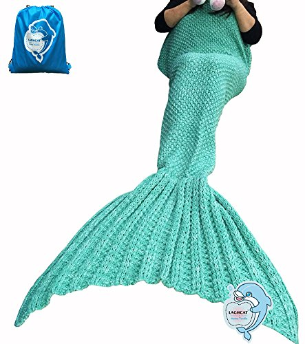LAGHCAT Mermaid Tail Blanket Crochet and Mermaid Blanket for Adult,Whale Tail All...