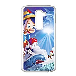 LG G2 Cell Phone Case Covers White PinocchioY4625695