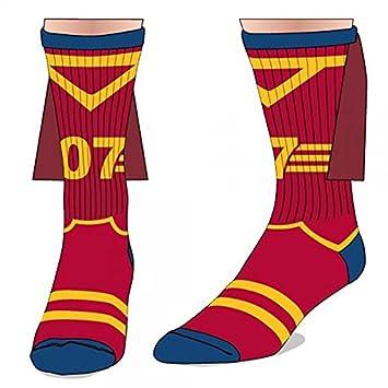 Producto nuevo Harry Potter Gryffindor Quidditch tripulación calcetines con capa auténtico Unisex: Amazon.es: Deportes y aire libre