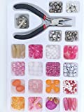 Jewelry Making Kit- This adult, teen, and girl making kit includes pliers, findings, and a variety of pink beading supplies.
