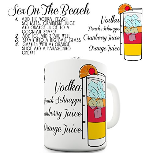 Sex On The Beach Summer Cocktail Party Drink Bar Mug by TWISTED ENVY