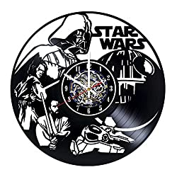 Fantasy Movie Design Vinyl Record Wall Clock / Gift idea for adults and youth / Original room wall decor / Unique Fan Art