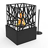 Regal Flame Bruno Ventless Indoor Outdoor Fire Pit Tabletop Portable Fire Bowl Pot Bio Ethanol Fireplace in Black - Realistic Clean Burning like Gel Fireplaces, or Propane Firepits