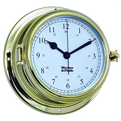 Weems and Plath Endurance II 135 Quartz Clock, Brass