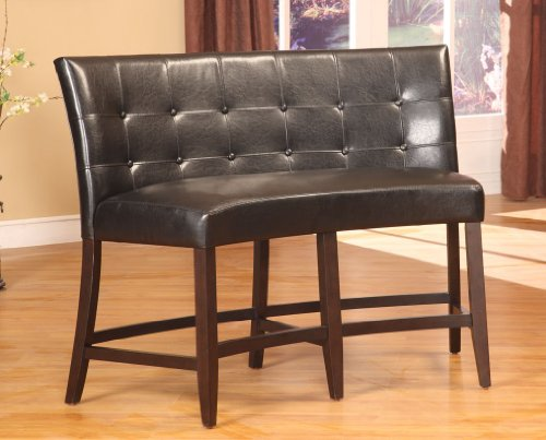 Modus Furniture 2Y0270D Bossa Counter Height Banquette, Black Leatherette Bossa Counter