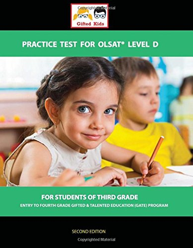 Gifted Kids Practice Test For Olsat Level D For Grade Three