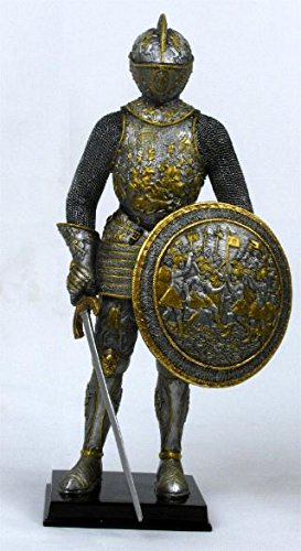 Veronese Design Medieval French Knight in Armor Statue Figure Armour -