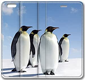 Animals Four Penguins Case for iPhone 6 Plus 5.5 inch(Compatible with Verizon,AT&T,Sprint,T-mobile,Unlocked,Internatinal)
