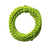 Outdoor Reflective Nylon Cord Camping Tent Rope Windproof Tent Awning Cord Guy Rope Line for Outdoor Recreation, Woven for High Strength, 50 Feet (Fluorescent Green)