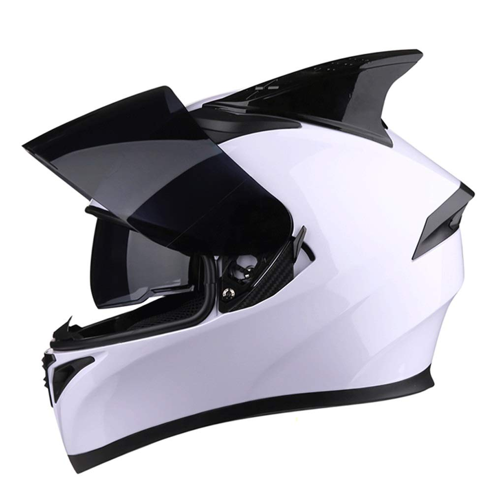 超歓迎 ダブルレンズヘルメットモトクロスフルフェイスヘルメット取り外し可能な裏地付きマウンテンバイク乗馬用ヘルメット (色 j, : J j, サイズ さいず : XXXL) XXXL) さいず B07PG1P7V7 XXXL|B B XXXL, ジャワスポーツ:d2c05661 --- a0267596.xsph.ru