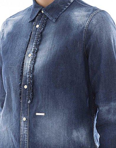 Dsquared2 Coton Bleu Femme Chemise S75DL0543S30341470 frwRAqf
