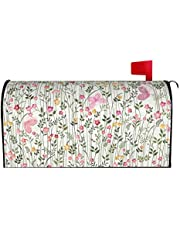 IOAOAI Mailbox Covers Magnetic Post Box Protector for Outdoor Garden Home DÃcormeadow Flowers and Butterflies