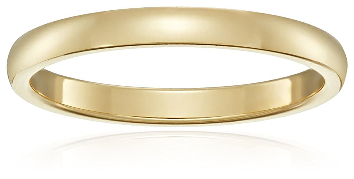 Amazon Classic Fit 10K Plain Wedding Band 2mm Jewelry
