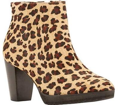 Women's Tenacious Bootie Baby Leopard Hair Calf