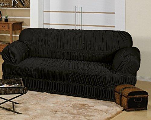 Capa Elasticada para sofá de 3 Lugares - Preto