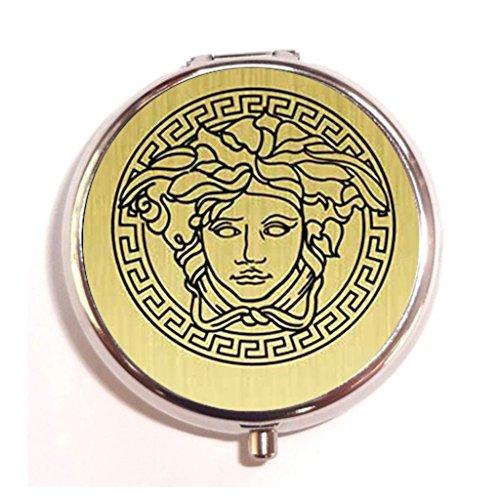 versace gold edition Custom Stainless Steel Pill Box Medicine Vitamin Organizer - Custom Versace