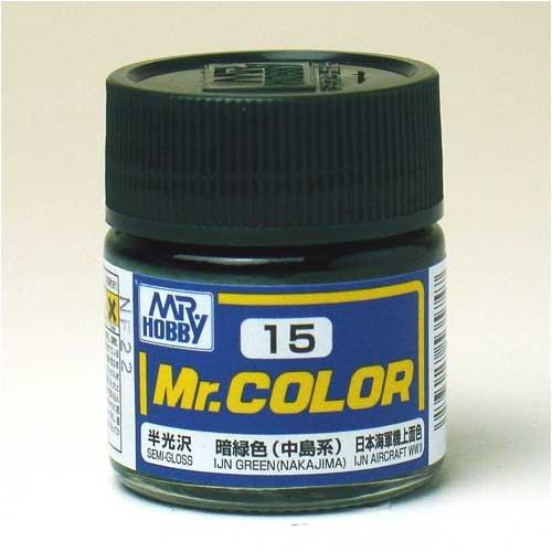 Mr.カラー C15 暗緑色 (中島系)