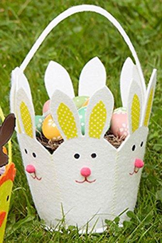 Two's Company Easter Parade Felt Basket (Company Bunny)