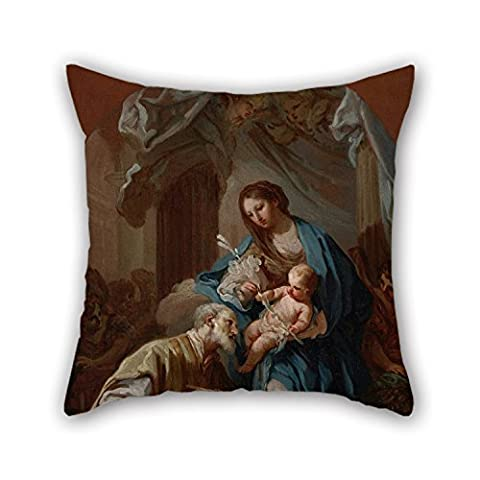 Slimmingpiggy 16 X 16 Inches / 40 By 40 Cm Oil Painting Conca, Sebastiano - The Madonna Appearing To St. Philip Neri Throw Cushion Covers,each Side Is Fit For Living (Cello Kitchen Sponges)
