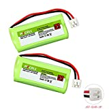 Rechargeable Cordless Phone Batteries for bt166342 bt266342 bt1011 serials Count: (2Pcs 2.4v aaa 600mAh))
