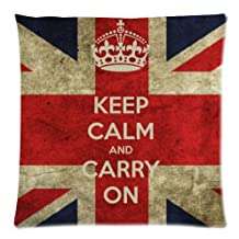 Best Custom Cushion Cases Twin Sides Zippered Pillowcases-Keep Calm and Carry On Union Jack Flag Style
