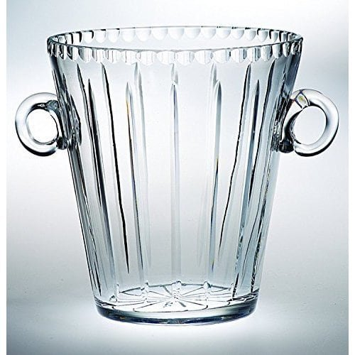 Luxury Home Majestic Gifts Hand-cut Clear Crystal 8-inch High Ice Bucket