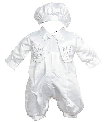 Cinda Niños bebés Traje de bautizo , chaleco y sombrero blanco