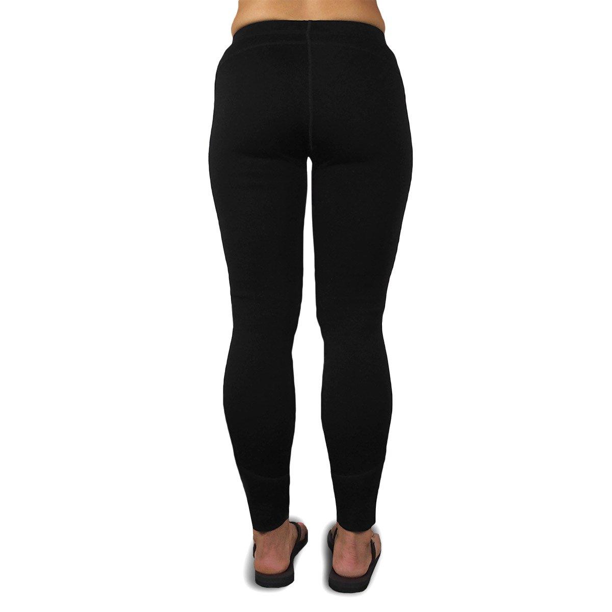 Minus33 Merino Wool 2300 Woolverino Women's Micro Weight Leggings Black Large by Minus33 Merino Wool (Image #4)