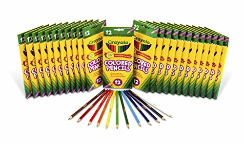 크래욜라 Crayola Colored Pencils, 24 Packs of 12-Count Colored Pencils, Art Tools in Vibrant Colors, great fo