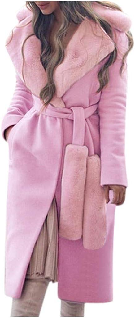 ITISME Cappotto Donna Cappotti Donna Lana Inverno Elegante Lungo Manica Lunga Classico Caldo Moda Addensare Giacca Risvolto Colletto Outwear Vintage