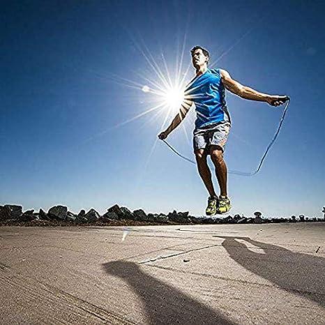 Gym Speed Rope pour Entra/înement Yoofa Corde /à Sauter Boxe Crossfit Jump Skipping Rope R/églable pour Fitness Sport