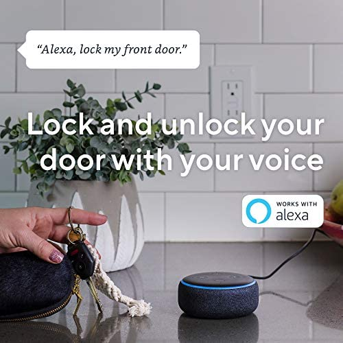 Wyze Lock WiFi and Bluetooth Enabled Smart Door Lock, Wireless & Keyless Door Entry, Hands-Free Voice Control, Home Security Compatible with Amazon Alexa, Fits on Most Deadbolts, Includes Wyze Gateway 51GvPYMLyeL