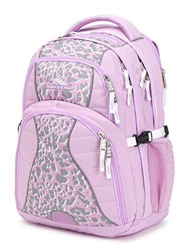 High Sierra Swerve Laptop Backpack, Iced Lilac/Shadow Leopard/White