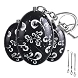 Personal Alarm 3 Pack Anrui Upgraded Version Waterproof 120dB Panic Safety Alarm Keychain Self Defense for Kids Women Adventurer Night Workers Anti-Theft Alarm Policeman Recommend (Black)