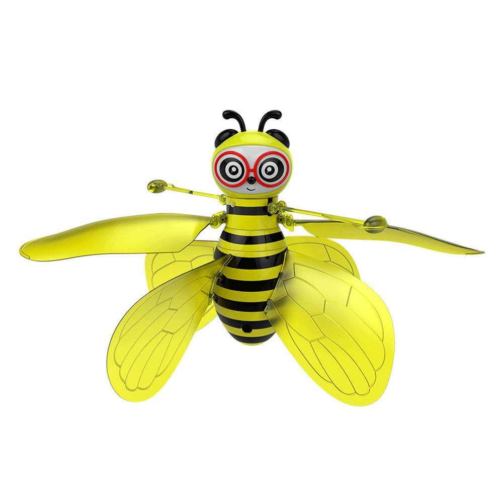 UPLEYING Hanging Helicopter Mini Drone Hand Controlled Gravity Sensing Aircraft 360°Rotating Bee Flying Toys Kids Boys Girls Birthday Gift (1) by UPLEYING