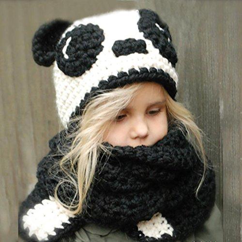 b3d74a9f5 Bebé Bufandas Sombreros Sombreros para niños Otoño invierno Calentar Linda  Animal De punto capucha Bufanda Gorros