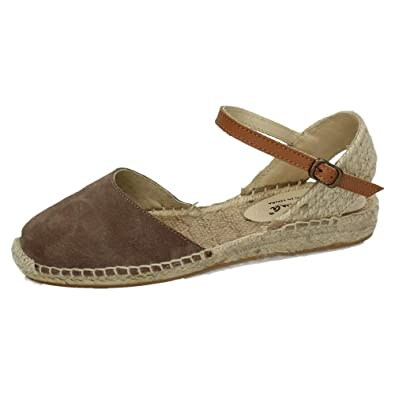 Made In Spain 18201C, Espadrilles Femme Marron Taupe