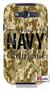 Cool Painting Proud Navy Girlfriend Digital Camouflage Camo Tan Unique Quality Soft Rubber Case for Samsung Galaxy S4 I9500 - White Case