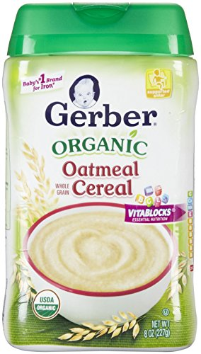 Gerber Organic Baby Cereal-Oatmeal-8 Ounces-6 Pack