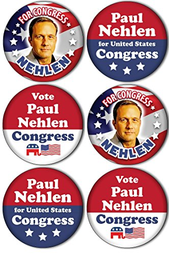 Congress Pendant (6-Pack Buttons! Vote for PAUL NEHLEN for CONGRESS! Wisconsin Election 2.25