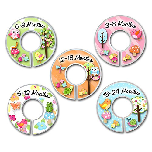 CLOSET DIVIDERS Owls Love Birdies Girls Nature Forest Bedroom and Baby Nursery Art Decor CD0004 by Toad and Lily