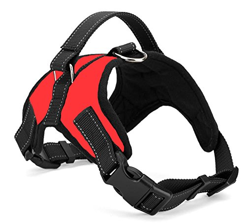 Xanday No Pull Dog Vest Harness, Reflective Dog Body Padded Vest with Handle, Adjustable Dog Walking Harness Comfort Control for Small Medium Large Dogs (XS, Red)