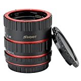 SHOOT Aluminum AF Auto Focus Macro Extension Tube Set for Canon EOS EF EF-S Lens DSLR Cameras 1100D 700D 650D 600D 550D 500D 450D 400D 350D 300D 100D 70D Close-up(13mm 21mm 31mm)