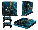 marvel skin decal - EBTY-Dreams Inc. - Sony Playstation 4 (PS4) - Marvel Guardians Of The Galaxy Mini Groot Vinyl Skin Sticker Decal Protector
