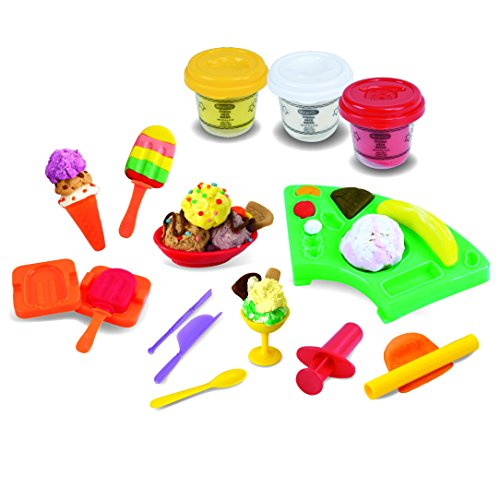 Amazon.com: Crayola 81494 Dough Ice Cream Playset, Multi-Colour: Toys & Games
