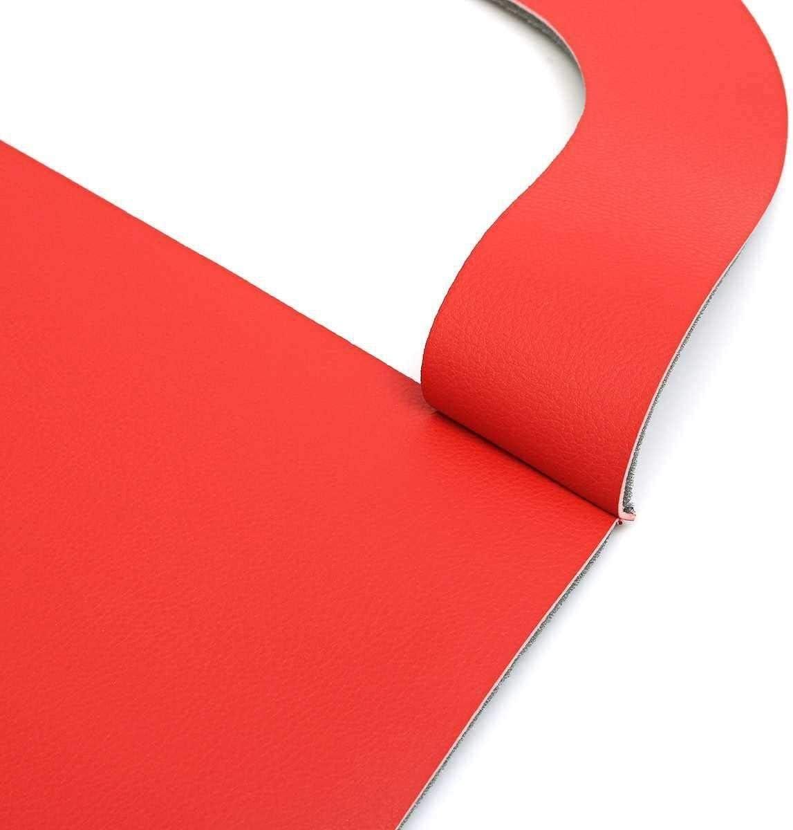 Color : Red Au/ßent/ürgriffe Autot/ürverkleidung Einsatz-Karten Staub Pad Kunstleder Rot for Mustang 2005-2009 Front Door Plattenteile